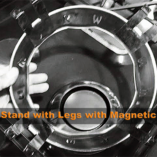 wokstand with magnetic feet